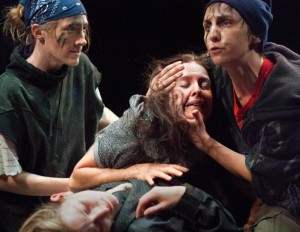 Amanda Forstrom as Chiron, Rana Kay as Lavinia, Teresa Spencer as Demetrius