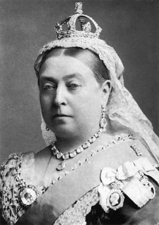 Queen Victoria, looking like her least amused self. (By Alexander Bassano)