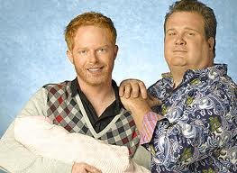 "Cam and Mitchell: a stereotypical gay couple featured on ABC's sitcom ""Modern Family"""
