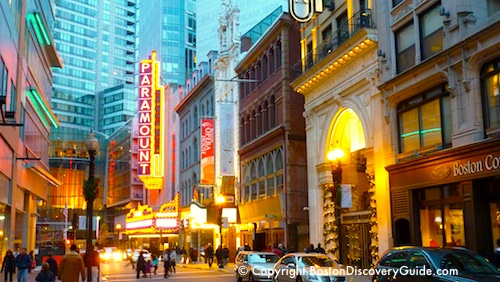 Beautiful shot of the Theatre District (though a small representation of Boston's Theatrical Community)