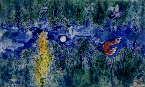 model_for_the_curtain_in_the_first_act_of_the_firebird_chagall_1
